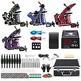 Solong Tattoo® Profi Komplett Tattoomaschine Set 4 Tattoo Maschine Guns Tattoo maschine Set Kit TK456