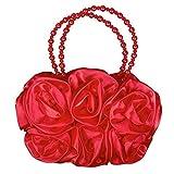 Mädchen Satin Handtasche 3D Blumentasche