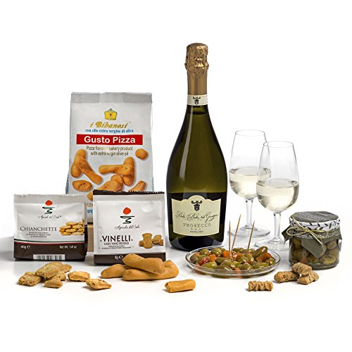 Prosecco Wine & Italian Nibbles Gift Hamper Box- 'cos They're a 'Grape' influence!