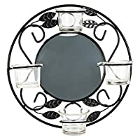 Harmony Glass Candle Holder With Metal Hanger - 4 Piece Set