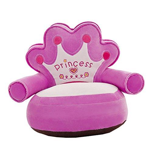 Unbekannt MagiDeal Kinder Kartoon Sofa Sitzsackbezg Sitzsack Sessel Bezug Sitzkissen Bean Bag - Princess- Lila