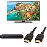 LG 50LF652V Smart 50 Inch TV with LG BP250 Blu-Ray and DVD Disc Player & 3 Ft HDMI Bundle