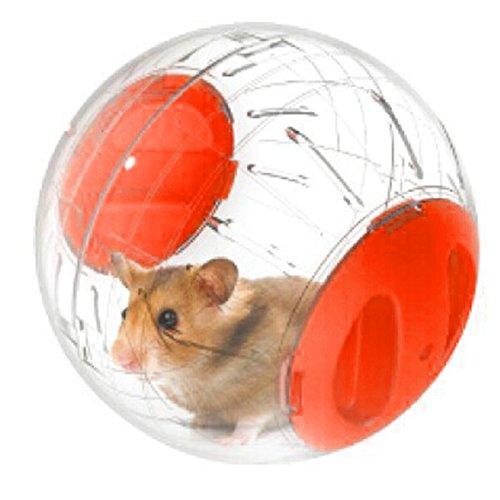 Hamster exercice ballon gerbille jouer jouet transparent Plastique Petits Animaux Course Jogging Jouer Exercise Ball (Orange)