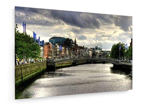 Penny ponte sul fiume Liffey a Dublino, Irlanda - 120x80 cm - weewado - Belle stampe d'arte tela - arte della parete
