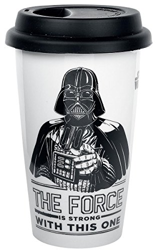 Star Wars Darth Vader - The Force is strong with this one Kaffee-Becher Standard (Star Wars Darth Vader Becher)