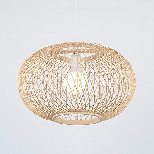 String-kronleuchter Schatten (Bambus Deckenleuchte, handgewebte Bambus Anhänger Kronleuchter, kreative Laterne Bambus Lampenschirm hängende Lichter E27 (ohne Lampen))