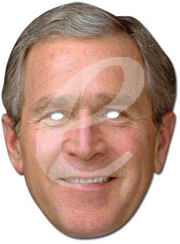 empireposter George Bush Prominentenmaske, Papp Maske, aus hochwertigem Glanzkarton mit Augenlöchern, Gummiband - Grösse ca. 30x21 cm (Bush-maske)