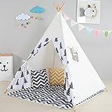 Apuytect Kiefer Kinder Tipi-Zelt mit Tragetasche für Kinder und Outdoo, aus Neuseeland, Baumwolle