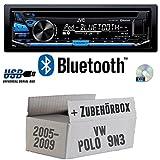 VW Polo 9N3 - JVC KD-R871BT - Bluetooth CD/MP3/USB Autoradio - Einbauset