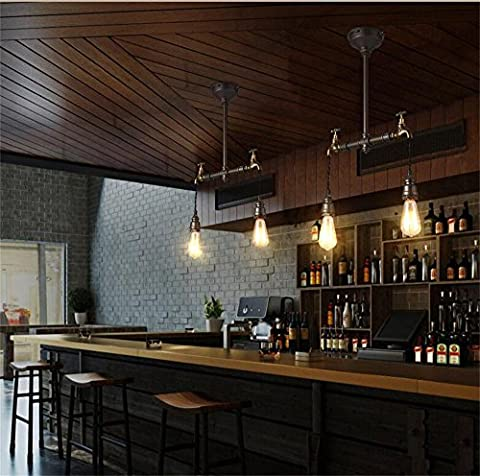 loft American Iron Vintage lamp creative restaurant bar cafe personality wind long industrial pipes chandelier ( Size : 2
