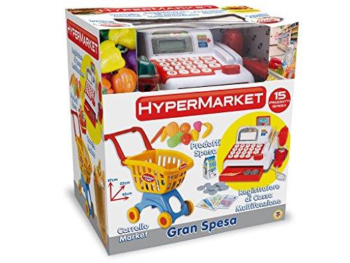 TEOREMA Satz 64492–Mini Market mit Einkaufstrolley, Registrierkasse und Zubehör