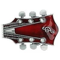 Senmi Red Guitar Belt Buckles Music Band Rock