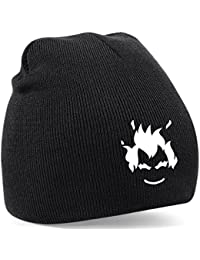 Embroidered Overwatch Junkrat gamers Beanie Woolly hat PS4 XBOX (black-white)