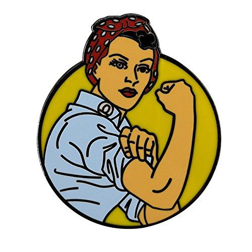 Gudeke Rosie la Riveter Pin esmaltado Insignia Feminista Mochila para niñas Chaquetas de Mezclilla para Mujeres
