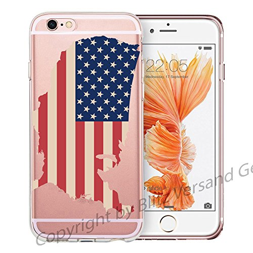 blitzversand Handyhülle Donald Trump USA kompatibel für Huawei P Smart 2019 / Honor 10 Lite USA Flagge Schutz Hülle Case Bumper transparent M2