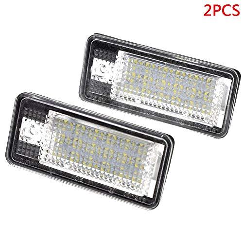 Merssavo 2 Stück Nummernschildbeleuchtung 18 LED Birnen Hinten License Tag Nummernschild Lampe für Audi A3 / A4 / A6 / A8 / Q7 / RS4 -