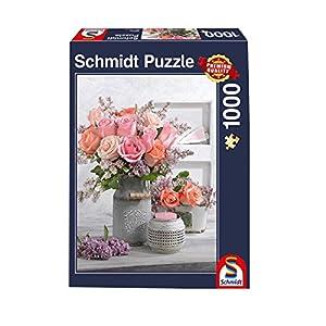 Schmidt Spiele Puzzle 58314Estilo rústico y Rosas, Rompecabezas, 1000Piezas