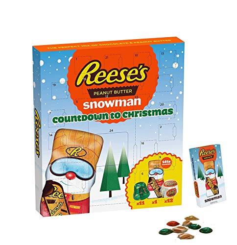 Reese Luxus Schokolade Adventskalender Erdnussbutter 348G - Größeres und besseres Geschenk für Weihnachten