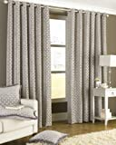 Belmont Silver Ring Top Curtains 168 x 183