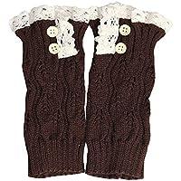 JIALONGZI Weiche Winter Warm Crochet Strickstiefel Manschette Socke Spitze Trim Frauen Beinwärmer Socken