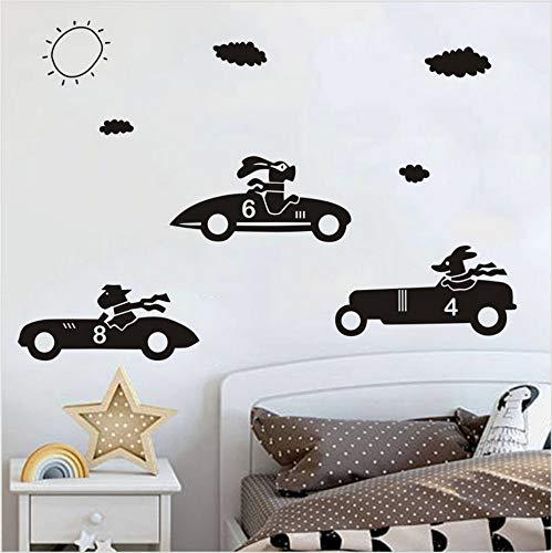 Aceycys ragazzi love cartoon car fai da te wall sticker per camera dei bambini decorazione rimovibile wall art stickers carta da parati decalcomanie home decor 58x48cm