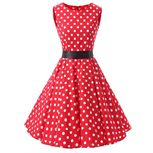 Red Polka Dot Dress: Amazon.co.uk