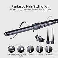 inkint Rizador de Pelo / Rulos,3-en-1 Pinza Rizadora,Spiral Hair Curler - Voltaje Universal:110-240V+ Adecuado Para Cabello Seco / Mojado
