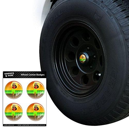 Aloha Hawaii Hula Tänzerin Tire Rad Center Gap resin-topped Abzeichen Aufkleber
