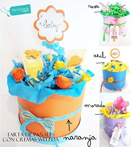 Torta-di-Pannolini-DODOT-con-2-Creme-WELEDA-PERSONALIZZAZIONI-DISPONIBILI-Nome-Beb-Biglietto-Taglia-Pannolini-Colore-Torta-OPZIONI-PREMIUM-Accessori-per-Beb-e-Packaging-Natalizio