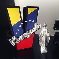 """Letra 3D 6"""" Venezuela"""