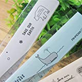 15cm mignon simple Plastique droites Règle Kawaii Dessin animé frais règles pour enfants étudiant Cadeau Stationery Office école d'alimentation taille unique Multicolore