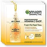Garnier, Mascarilla Antiestrés Relajante para la Cara, 33 gr, Paquete de 4