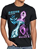 style3 Goku vs. Vegeta Herren T-Shirt Energie Gallic Son Dragon Beam Struggle Ball Anime Schwarz, Größe:M