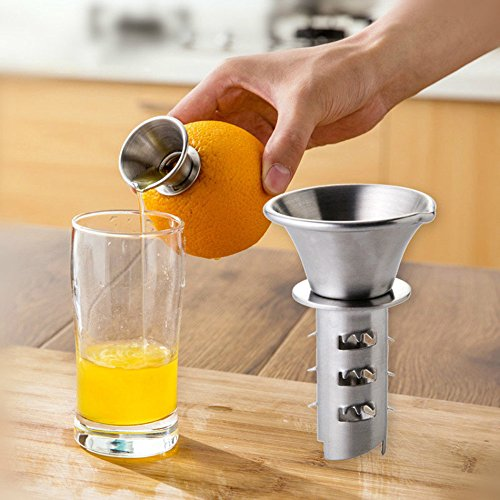 Bazaar-Edelstahl Bohrung Manuell Zitrone klein Handschlag Obst-Tool Küche Maschine Saft