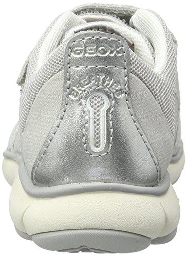 Geox - J Nebula Girl A, Scarpe da ginnastica Bambina Grigio (Lt Greyc1010)