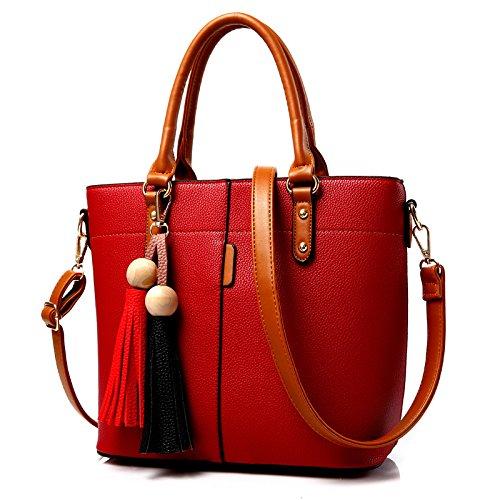 Koson-Man Borse a tracolla, Red (rosso) - KMUKHB106-02