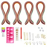 #7: Unobite 10 Piece Quilling Jewellery Making Kit with 400 Papers