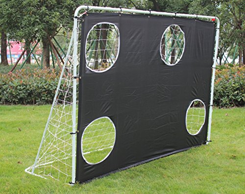 KKB Sport 7  x 5  Steel 3 in 1 Football Soccer Goal Targets with Nets