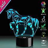 3D LED Nachtlicht Puzzle Pferd Puzzle mit 7 Farben Licht für Dekoration Lampe Erstaunliche Visualisierung Optische Täuschung