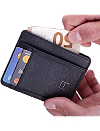 Card Holder Wallet - RFID Blocking Ultimate Slim & Safe Minimalist By Mercor Leather – Premium Rugged Genuine PU Leather Material, Smart, Stylish & Space-Saving Design, 7 Slots For Credit Cards & Cash