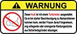 Audi Aufkleber Turbo Motor German Lustig Warnung Aufkleber Sprache