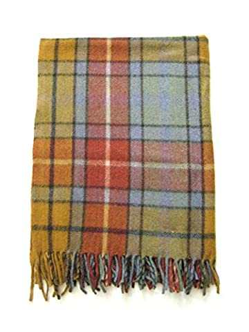 Highland Scottish Tartan alle Wolle Knie Teppich Antique Buchanan