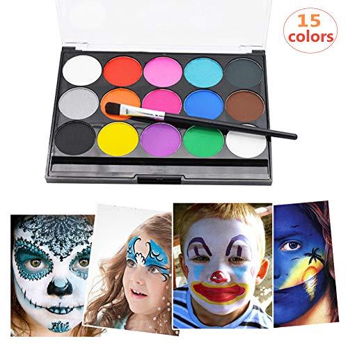 kinderschminke set,Schminkpalette,Make-up-Palette,15 Farben Schminkpalette,Geburtstags Party & Halloween Geschenk für Kinder