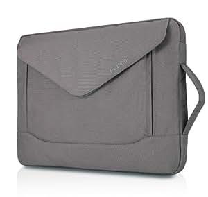 Plemo 15-15.6 Inch Laptop Sleeve Case Neoprene Fabric Bag for MacBook Pro / 15.6-Inch Laptops / Notebook, Gray