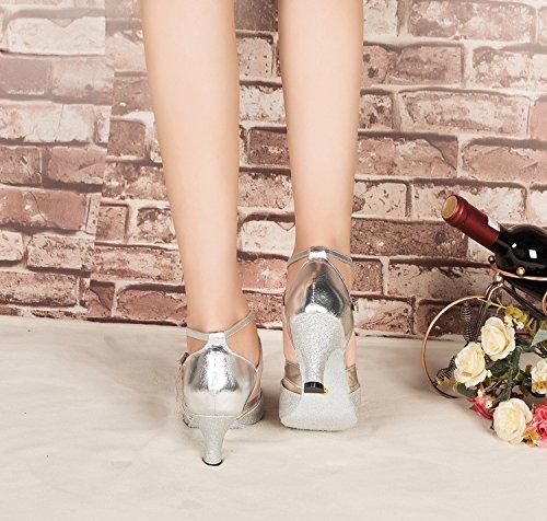 Minitoo Damen Tanzschuhe Silber - 4