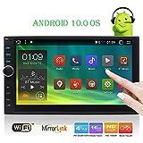 Doule 2 din Android OS 10.0 autoradio sistema di navigazione GPS con Bluetooth 2G + 32G Car Audio, Video Radio Player Wifi / MirrorLink / OBD2 / USB / SD in precipitare Tablet Headunit touchscreen ca
