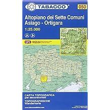 Altopiano dei Sette Comuni, Asiago: Wanderkarte Tabacco 050. 1:25000