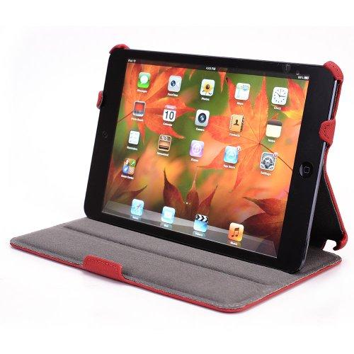 iPad Mini PU Leather Case with Kickstand - Red
