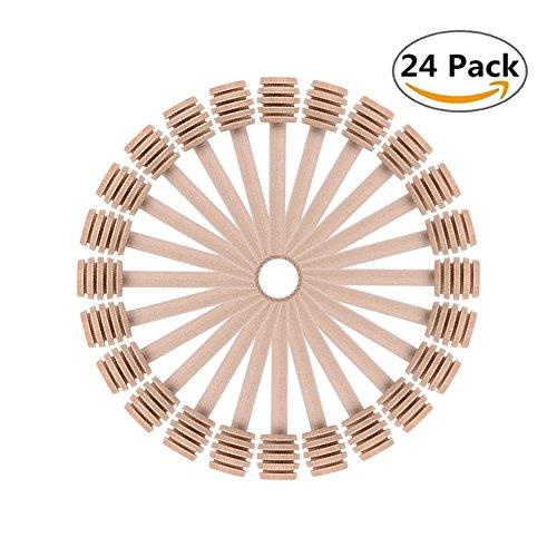 surenhap Honig Dipper, 24Packungen 7,6cm Mini Holz Honig Dipper Sticks für Honig Jar verzichten