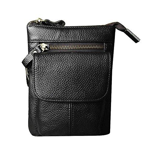 Genda 2Archer Piccola Pelletteria Vita Travel Bag Pouch del Sacchetto del Collo Fondina Borse (18-LZWBK)